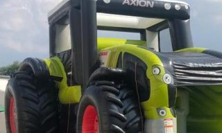 Hüpfburg Traktor XXL leihen