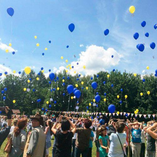 Luftballon Massenstart