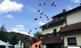 Luftballon Massenstart Veranstaltung
